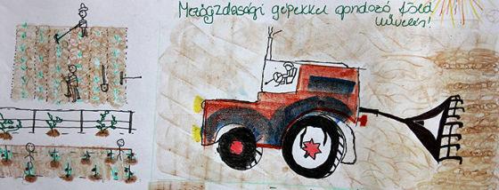 A traktor mindent visz!
